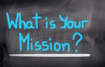 "Texto escrito ""What is your Mission?"""