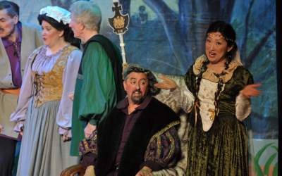 """Playing """"The King"""" in Victor Herbert's """"The Magic Knight"""