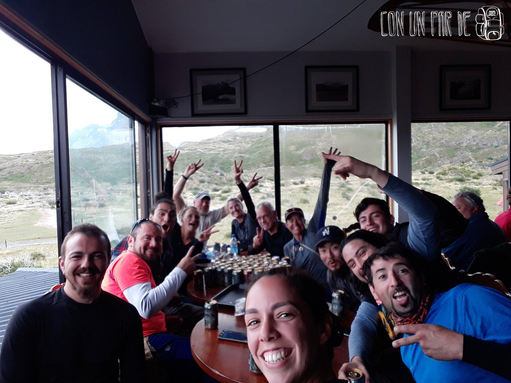 Weones y weonas internacionales. Torres del Paine
