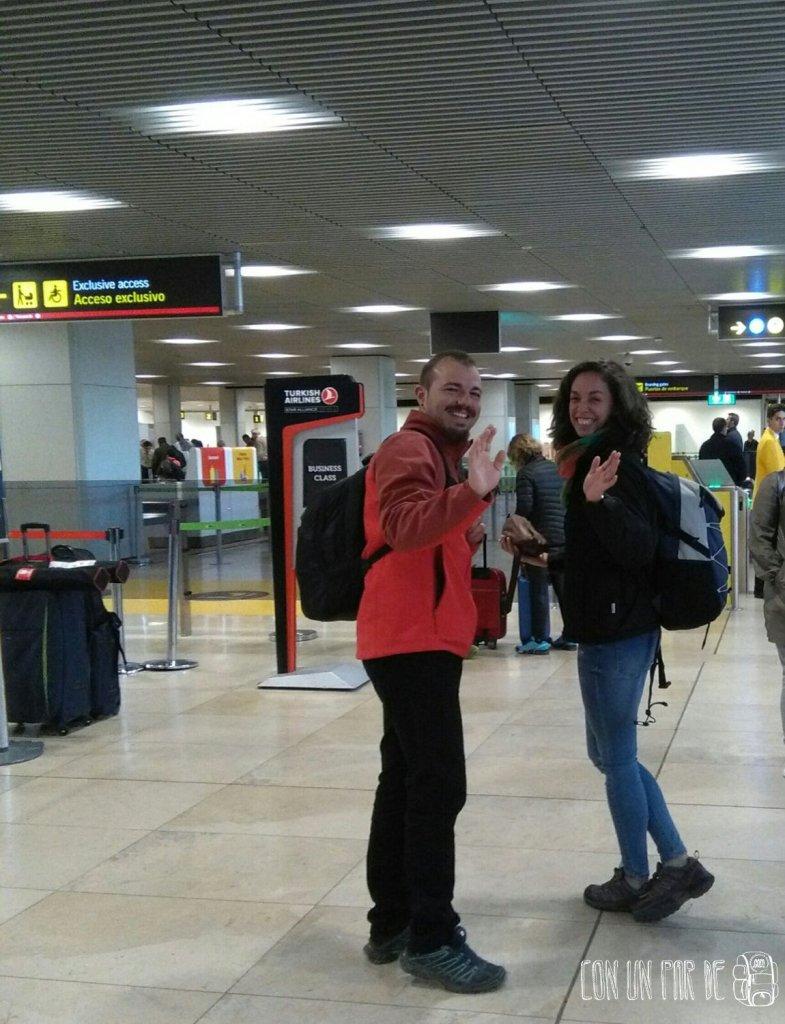 Despedida aeropuerto