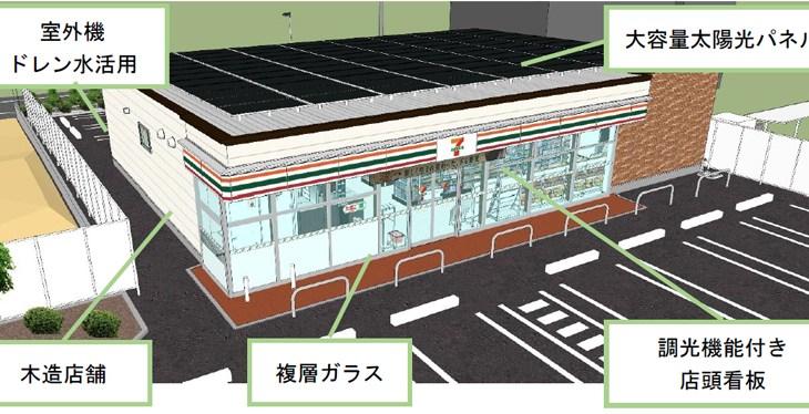 セブンイレブン/東京都青梅市に最新省エネ店舗、電力43%減・CO2は54%減