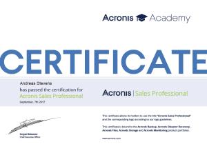 Acronis Sales Professional