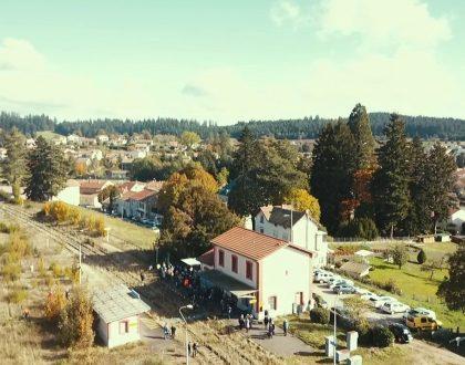 Mobilisation pour la réouverture de la ligne ferroviaire Lyon/Saint-étienne/Clermont-Ferrand le 31 janvier en gare de Boën