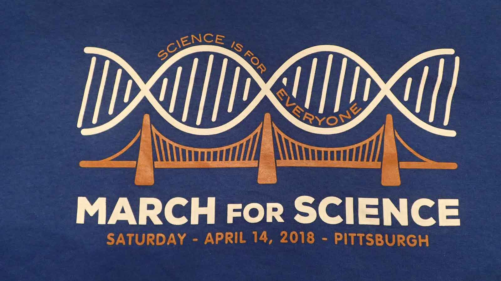 the 2018 March for Science Pittsburgh logo