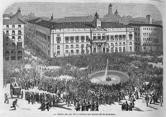La Puerta del Sol, septiembre de 1868