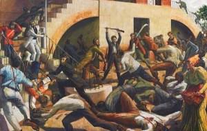 Morant Bay Rebellion, Painting by Barrington Watson