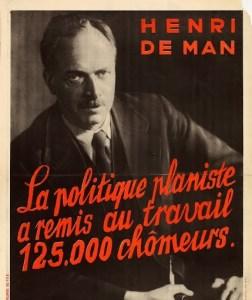 Henri de Man en un cartel de 1936