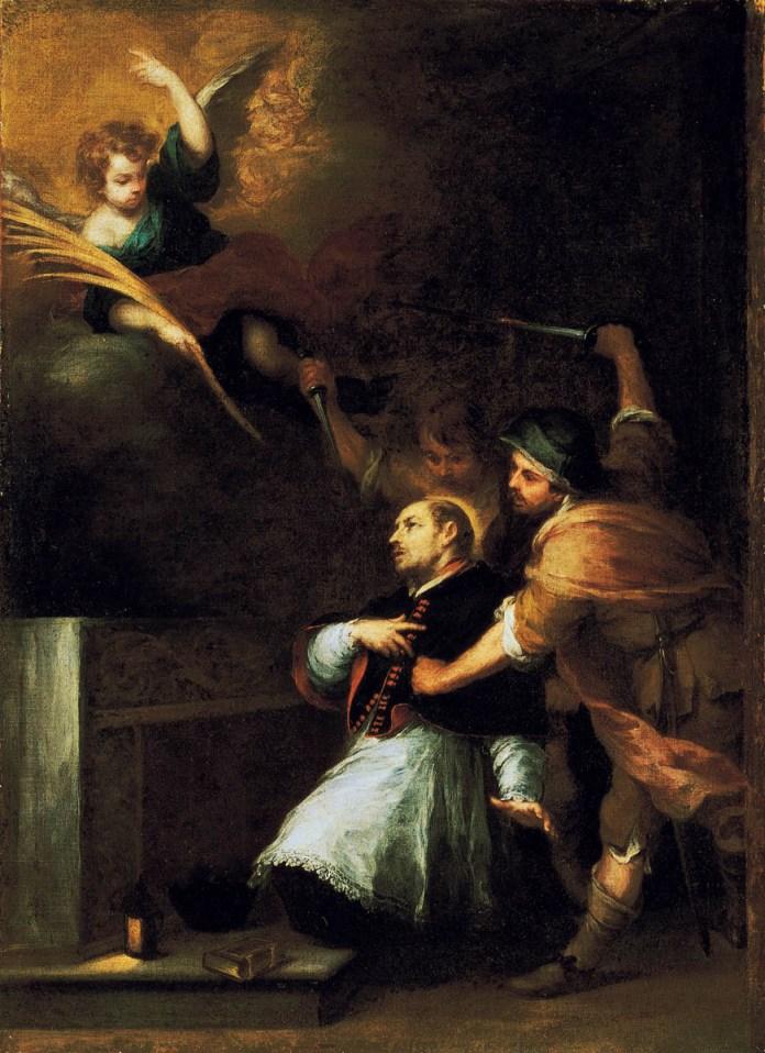 Martirio de Pedro de Arbués por Murillo colección BBVA