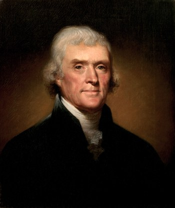 Thomas Jefferson (pictured) was the president during the Louisiana Purchase.