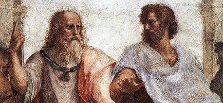 Plato and Aristotle talking - Republic by Plato