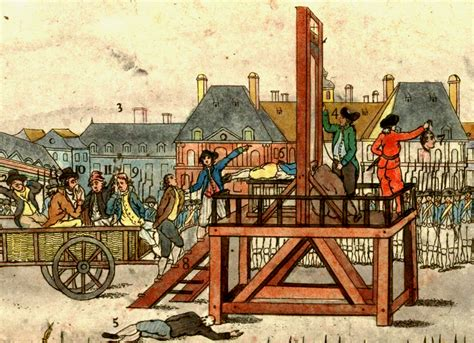 guillotine showing how a mob reign of terror works