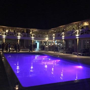 Pool deck at Pili Pili