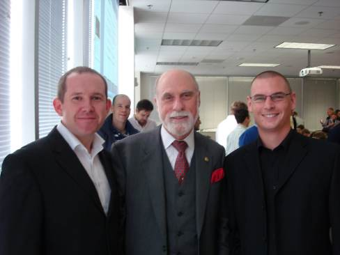 Googleplex with Vint Cerf.