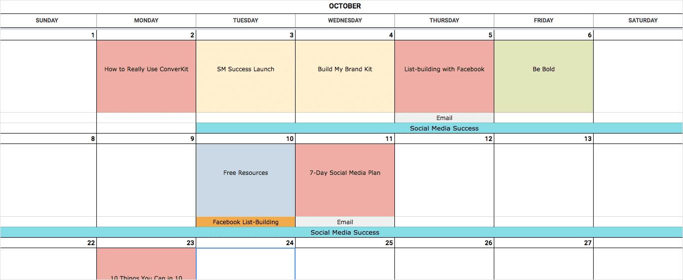 An Epic Social Media Content Calendar Template For 2020