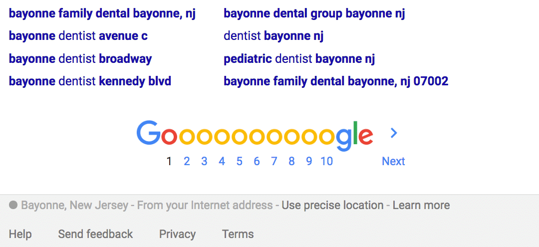 Google Dentist Ad Review – Dentist Near Me Bayonne, NJ