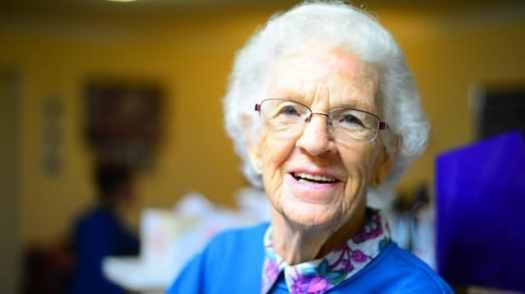 old lady dentures