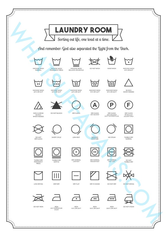 Laundry Cheat Sheets - 3 Free Printables for Your Laundry Room