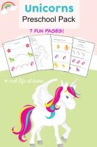 Unicorn Printables for Preschoolers