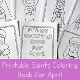 April Saints Coloring Book
