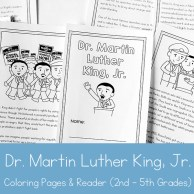 Dr. Martin Luther King Jr. Printable Book for 2nd - 5th Grade