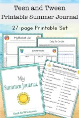 Summer Journal for Teens and Tweens