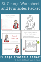 Saint George Worksheets and Printables Packet