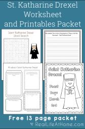 Saint Katharine Drexel Packet
