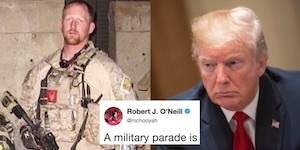 seal rains on trump's military parade
