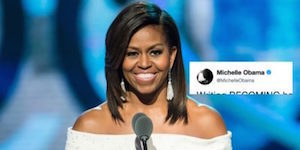 Michelle Obama surges into national spotlight with major book announcement