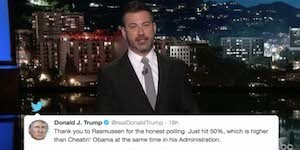 Kimmel roasts trump's new nickname for obama