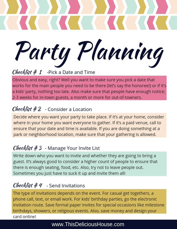 online birthday party planner