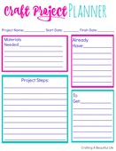 Craft project printable