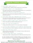 Financial planning checklist 2018 small