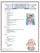 Labor and delivery hospital packing list 791x1024