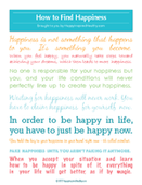 How to find happiness poster 150