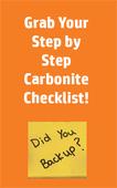 Carbonite checklist image
