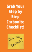 Carbonite checklist image