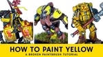 How to paint yellow   a broken paintbrush tutorial