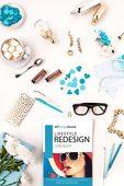 Lifestyle redesign checklist flatlay