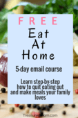 Eat at home ecourse pin