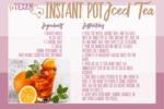 Instant pot iced tea recipe card