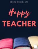 Happy teacher