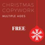 Christmas copywork landing page image