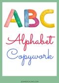 Alphabet copywork cover