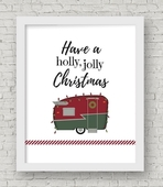 Holly jolly christmas framed copy