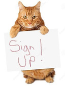 Cat sign up