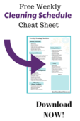 Free weekly cleaning schedule cheat sheet new