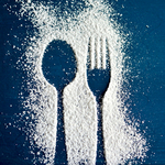 Sugar with spoon and fork sm