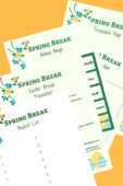 Copy of spring break activities printables