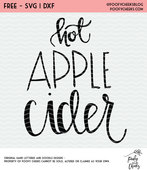Hot apple cider cut file